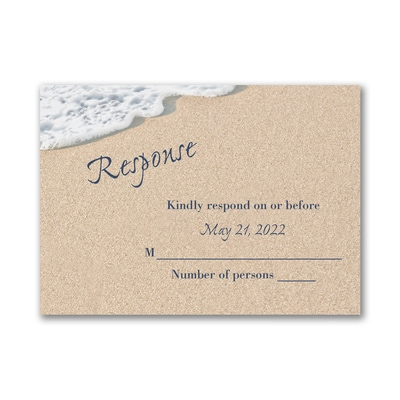 Written In The Sand - Response Card and Envelope
