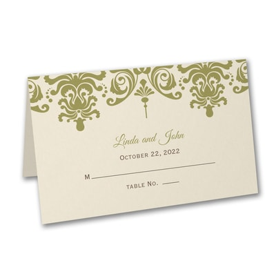 Damask - Place Card