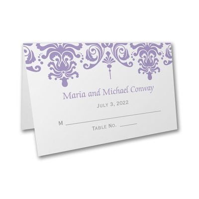 Charming Damask - Place Card