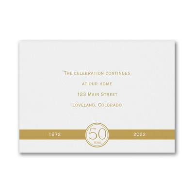Happy Years - Reception Card