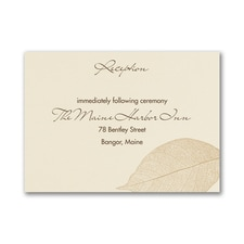 Falling In Love - Reception Card