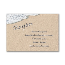 Written In The Sand - Reception Card