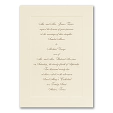 Simplistic Monogram - Invitation