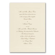 Simplistic Monogram - affordable and cheap invitation