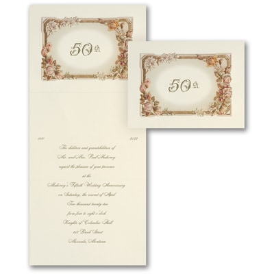 Roses & Romance - Invitation