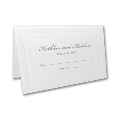 Pristine Pearl - Place Card