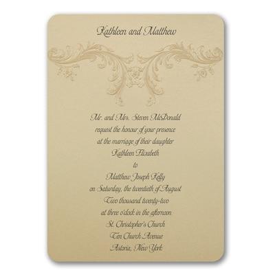 Golden Flourish - Invitation