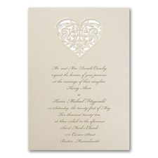 laser cut invitation: Shimmering Heart