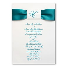 Satin Initial - Monogram Invitation