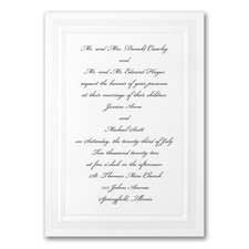 Elegant Wedding Invitations: Pristine Pearl