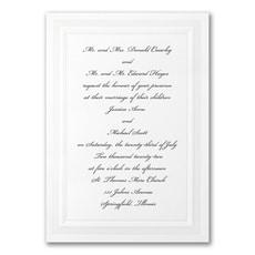 Pristine Pearl - Wedding Invitation