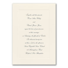 Simplistic Romance - affordable and cheap invitation