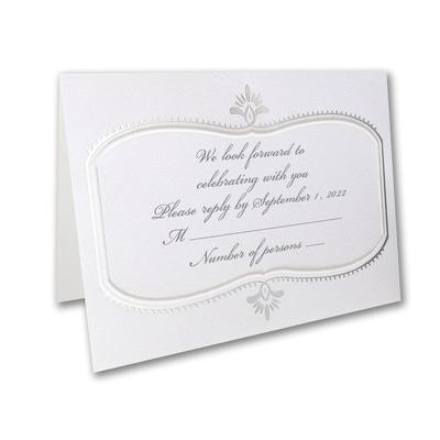 Silver Celebration - Response Card and Envelope