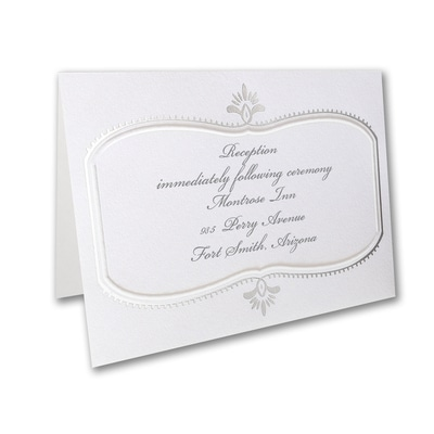 Silver Celebration - Reception Card
