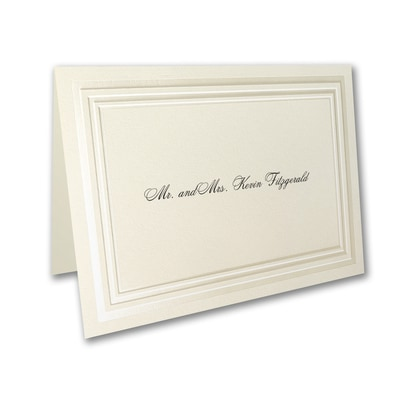 Striped Border - Thank You Note
