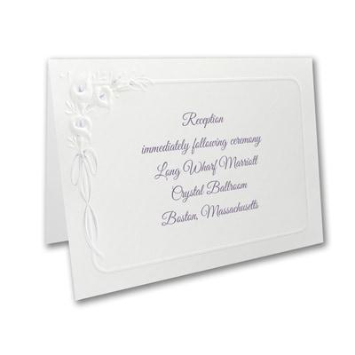 Calla Lily Devotion - Reception Card - Lavender