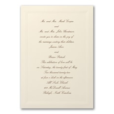 Triple Border - Wedding Invitation