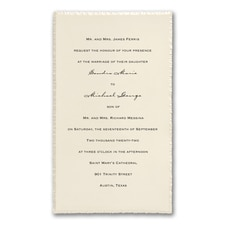 traditional invitation: Pearl Deckle