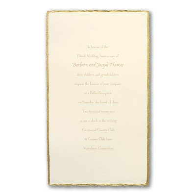 Golden Deckle - Anniversary Invitation