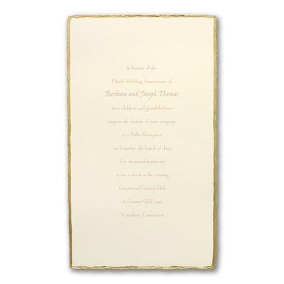 Golden Deckle - Anniversary Invitation