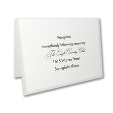 Glittering Border - Reception Card - Pearl