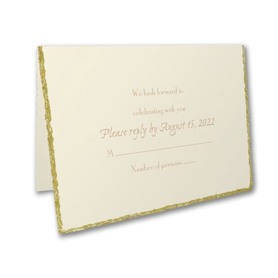 Golden Deckle - Response Card and Envelope