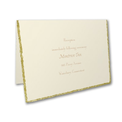 Golden Deckle - Reception Card