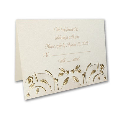 Golden Romance - Response Card and Envelope
