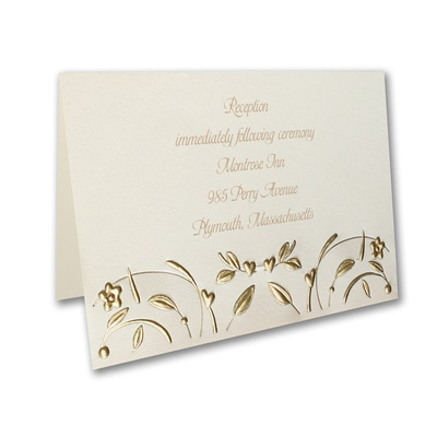 Golden Romance - Reception Card