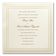 Square Striped Border - Invitation