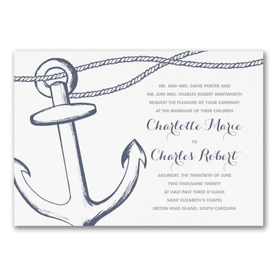 Anchors Aweigh - Invitation