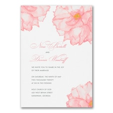 Peony Perfection - Invitation