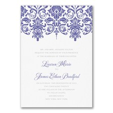 Dainty Damask - Invitation