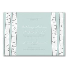 Birch Trees - Invitation