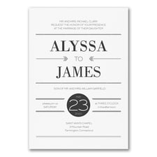 Simple wedding invitations: Simply Type