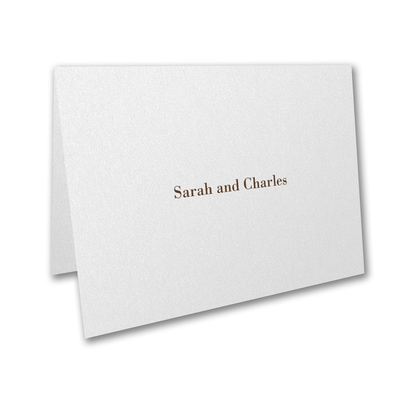 Thank You Note - White Shimmer
