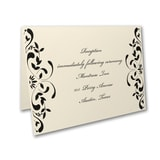 Ribbon & Vines - Reception Card