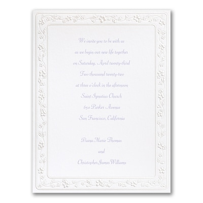 Pretty Pearl Flowers - Invitation
