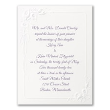 Simple wedding invitations: Calla Lily Devotion