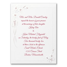 Calla Lily Devotion - Invitation - Burgundy