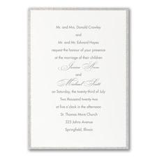 Anniversary Invitation: Glittering Border