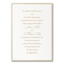 Simple wedding invitations: Glittering Border