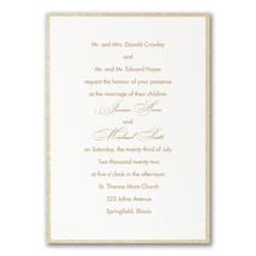 Glittering Border - Wedding Invitation