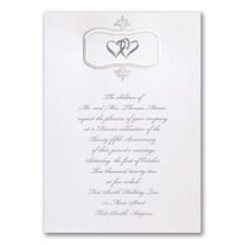 Silver Celebration - Anniversary Invitation