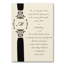 Ribbon & Vines - ribbon invitation