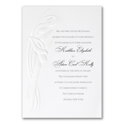 Calla Lily Detail - Invitation