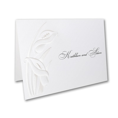 Calla Lily Detail - Thank You Note
