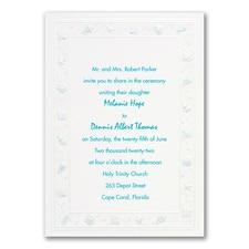 Seashell Border - Invitation