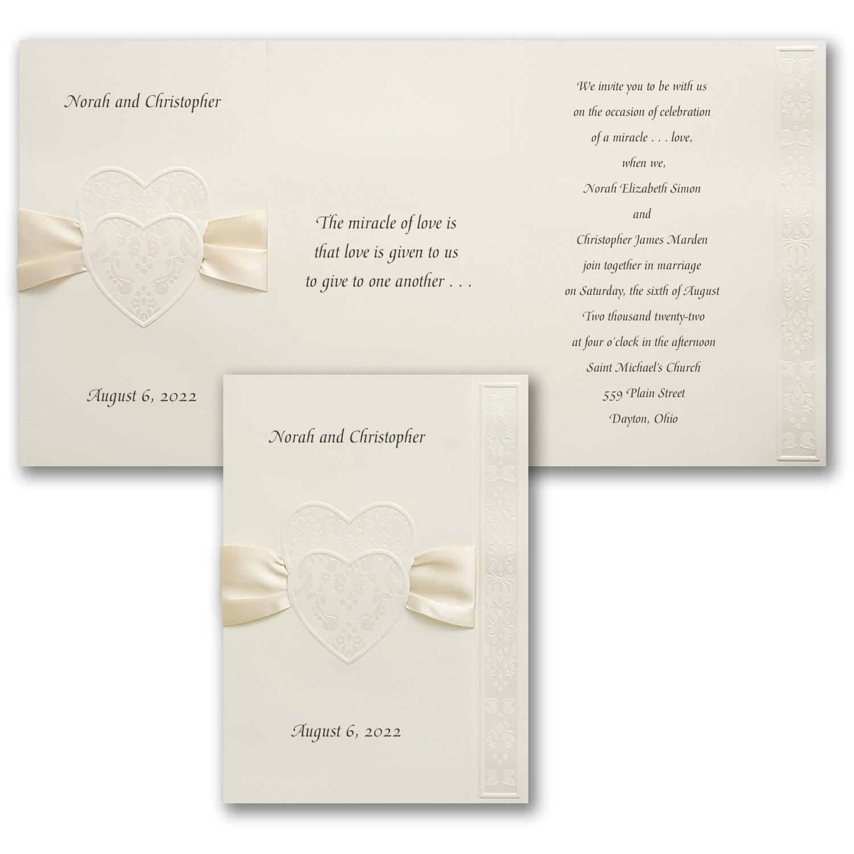 Decorative Hearts Invitation Wedding Invitations