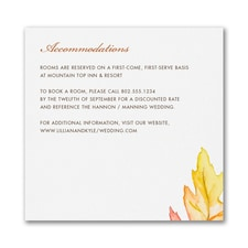 A Painted Leaf - Accommodation Card